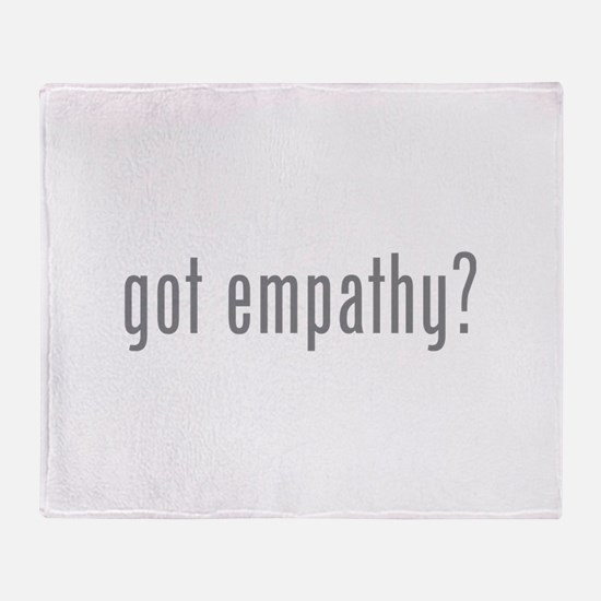 Got empathy? Throw Blanket