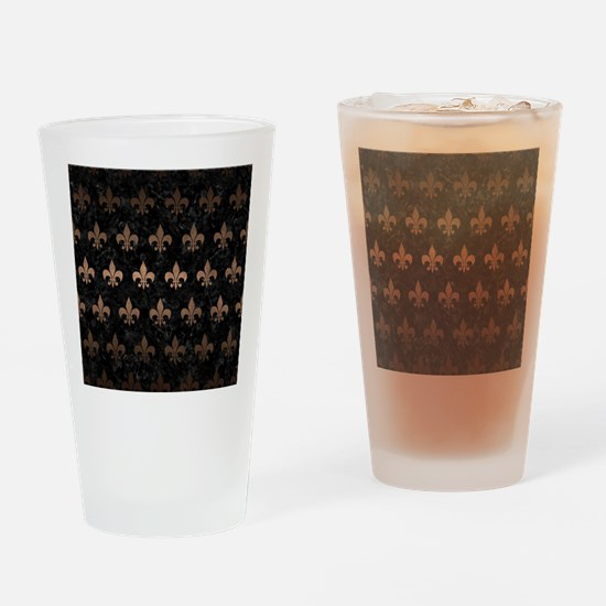 ROYAL1 BLACK MARBLE & BRONZE METAL Drinking Glass