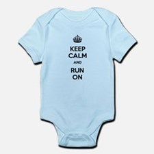 Keep Calm and Run On Infant Bodysuit