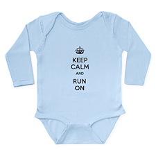 Keep Calm and Run On Long Sleeve Infant Bodysuit