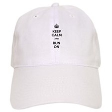 Keep Calm and Run On Baseball Cap