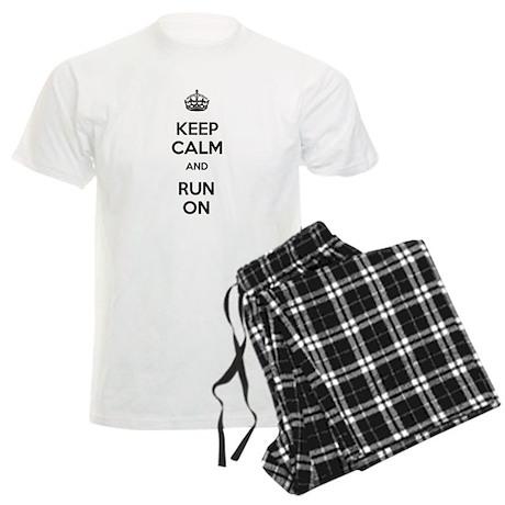 Keep Calm and Run On Men's Light Pajamas