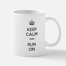 Keep Calm and Run On Mug