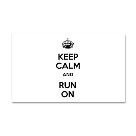Keep Calm and Run On Car Magnet 20 x 12