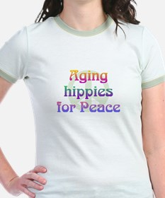 Aging Hippies for Peace T