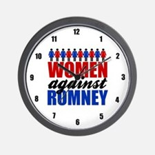 Women Against Romney Wall Clock