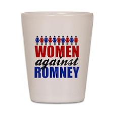 Women Against Romney Shot Glass