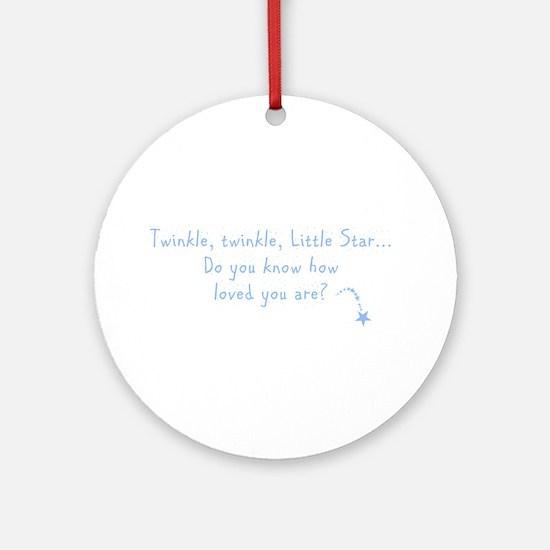 Twinkle Twinkle Little Star B Ornament (Round)