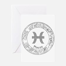 Pisces Zodiac sign Greeting Card
