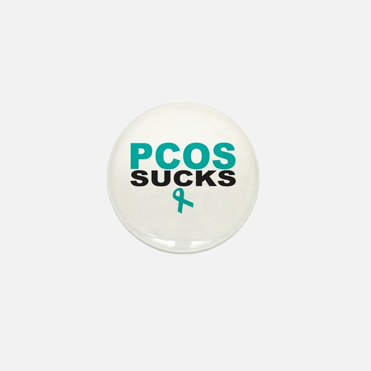 PCOS SUCKS Mini Button
