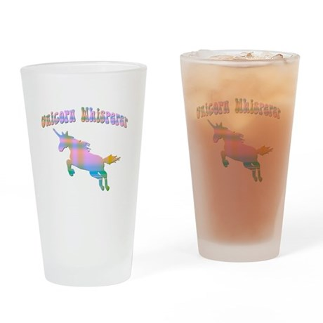 UNICORN WHISPERER Drinking Glass
