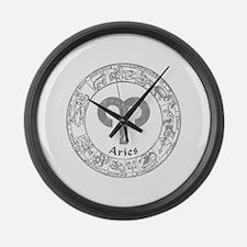 Aries Zodiac sign Large Wall Clock