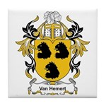 Van Hemert Coat of Arms Tile Coaster
