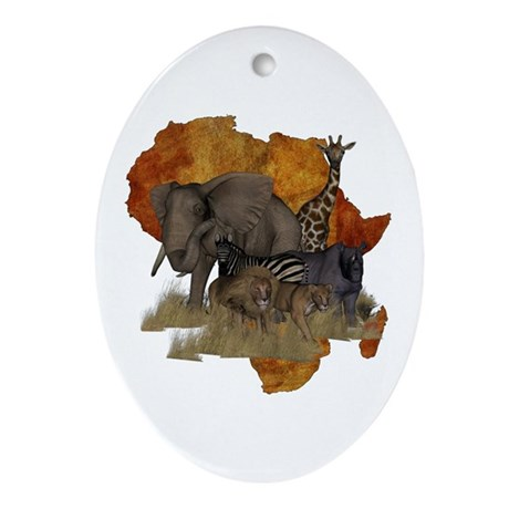 Safari Ornament (Oval)