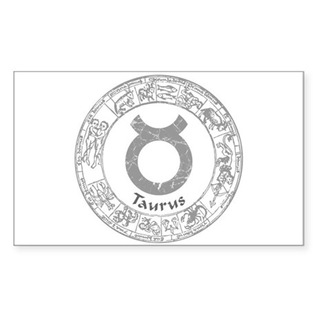 Taurus Zodiac sign Sticker (Rectangle)