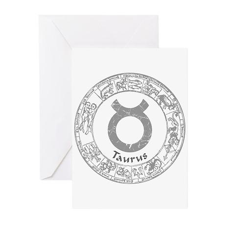 Taurus Zodiac sign Greeting Cards (Pk of 10)