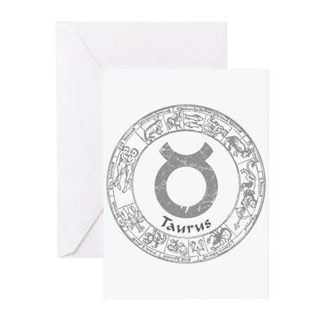 Taurus Zodiac sign Greeting Cards (Pk of 20)