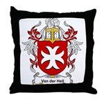 Van der Hell Coat of Arms Throw Pillow