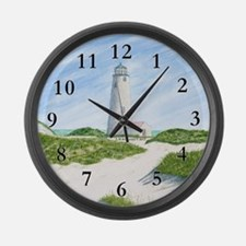 Dunes At Great Point Light Large Wall Clock