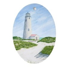 Dunes At Great Point Light Ornament (Oval)