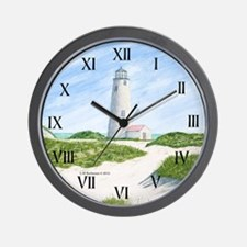 Dunes At Great Point Light Wall Clock