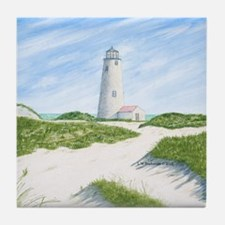 Dunes At Great Point Light Tile Coaster