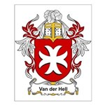 Van der Hell Coat of Arms Small Poster