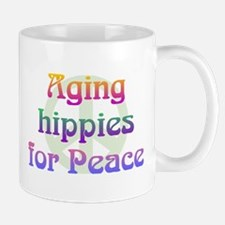 Aging Hippies for Peace Mug