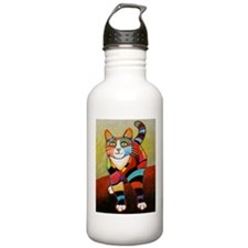 New Cat of Many Colors Water Bottle