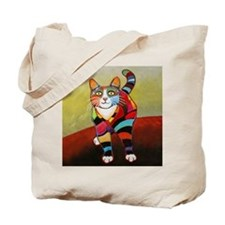 New Cat of Many Colors Tote Bag