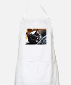 Sleek Black Cat Apron