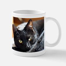 Sleek Black Cat Mug