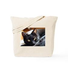 Sleek Black Cat Tote Bag