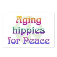 Aging Hippies for Peace Postcards (Package of 8)
