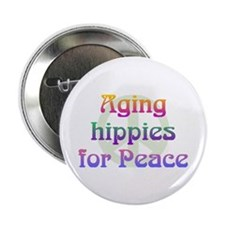 "Aging Hippies for Peace 2.25"" Button (100 pack)"