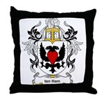 ten Ham Coat of Arms Throw Pillow