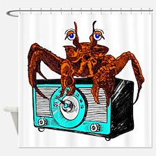 Crab Radio Shower Curtain