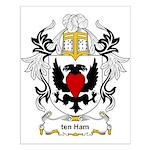 ten Ham Coat of Arms Small Poster