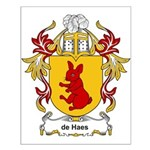 de Haes Coat of Arms Small Poster