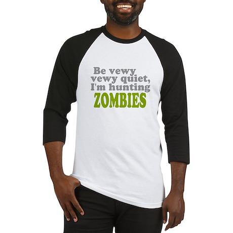 Hunting Zombies Baseball Jersey