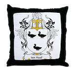 ten Haaf Coat of Arms Throw Pillow