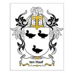 ten Haaf Coat of Arms Small Poster