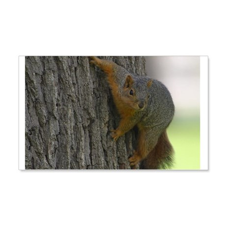 Squirrel Hugging a tree 22x14 Wall Peel