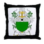 de Gruyter Coat of Arms Throw Pillow