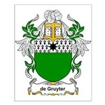 de Gruyter Coat of Arms Small Poster