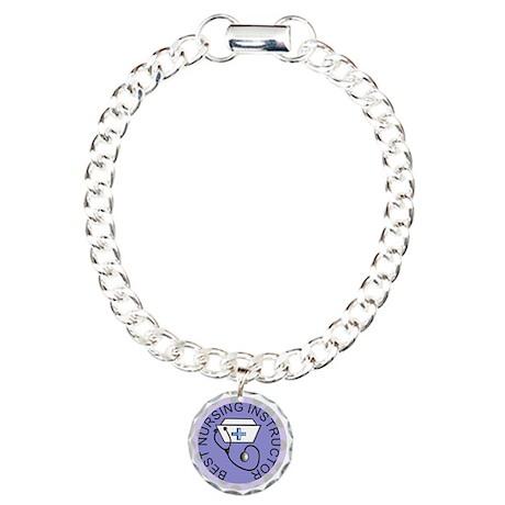 Nurse Graduation Charm Bracelet, One Charm