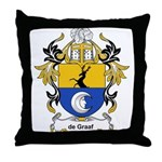 de Graaf Coat of Arms Throw Pillow