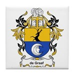 de Graaf Coat of Arms Tile Coaster