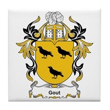 Gout Coat of Arms Tile Coaster