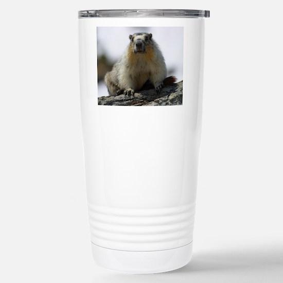 Grumpy Groundhog Stainless Steel Travel Mug
